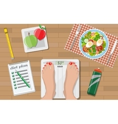 Weight loss diet healthy lifestyle vector