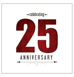 25 year celebrating anniversary graphic vector