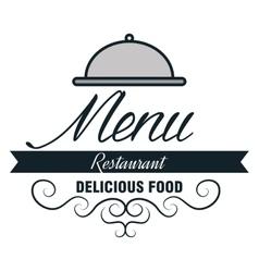 menu restaurent food icon vector image