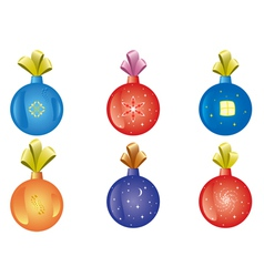 Set of christmas-tree decoration vector