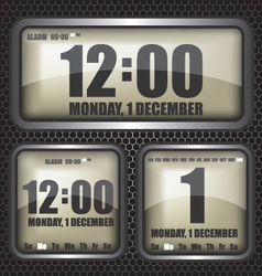 Retro digital clock vector
