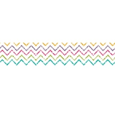 Colorful grunge chevron horizontal border seamless vector