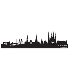 Kazan russia city skyline detailed silhouette vector