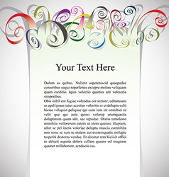 Framing with curly colorful ribbons for greetings vector