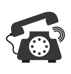 Retro phone isolated icon design vector