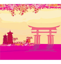 abstract Chinese landscape vector image vector image
