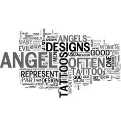 Angel dvd review text word cloud concept vector