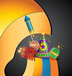 Attractive diwali crackers background vector