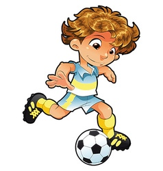 Baby soccer player vector