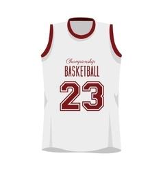 Basketball shirt sport vector