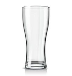 beer glass empty vector image vector image