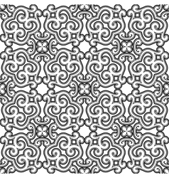 Black and white ornament vector image