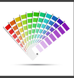 color palette isolated on white background vector image vector image