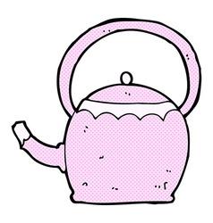 Comic cartoon tea pot vector