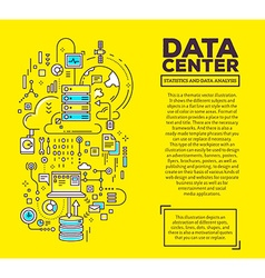 creative concept of data center with header vector image