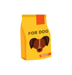 dog preserved food pack isolated icon vector image