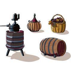 Equipment to produce wine vector