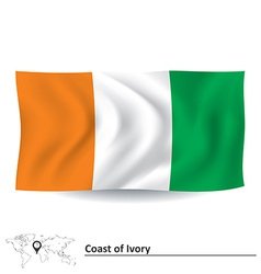Flag of coast of ivory vector