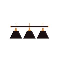 Flat cartoon green billiard lamp vector