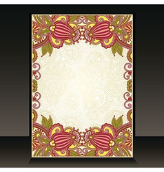 flayer ornate floral design vector image vector image