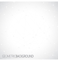 Geometric gray background Molecule and vector image