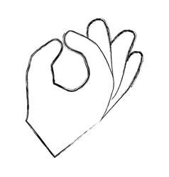 gesture ok hand vector image