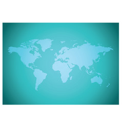 Green gradient background with map of the world vector