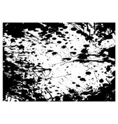 grunge black splat frame vector image
