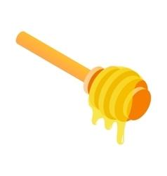Honey dipper isometric 3d icon vector