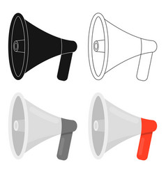megaphone icon cartoon single silhouette fire vector image