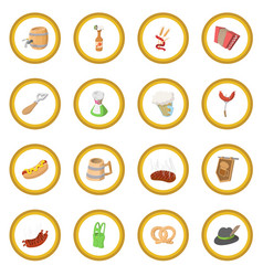 oktoberfest party cartoon icon circle vector image