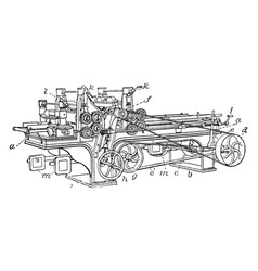 Planing machine vintage vector