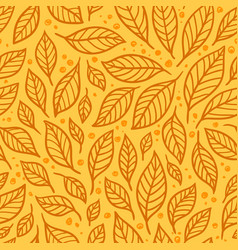 seamless with leaves vector image
