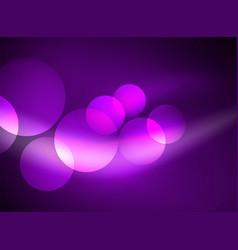 Shiny glowing glass circles modern futuristic vector