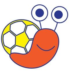 Soccer Snail vector image