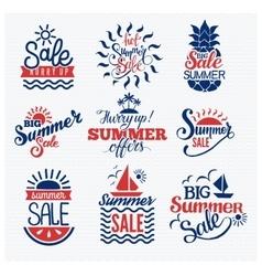 Summer sale logo vector image vector image