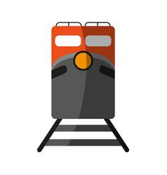 Train flat shadow vector