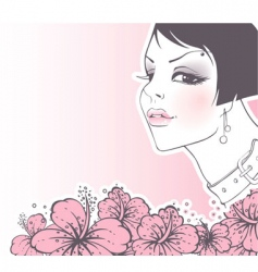 women flowers vector image vector image
