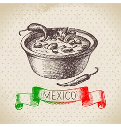Mexican traditional food background with chili vector