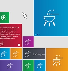 barbecue icon sign buttons Modern interface vector image