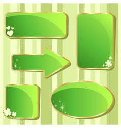 Emerald st patricks day sale stickers and tags vector