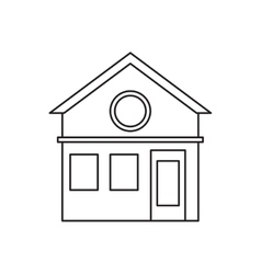 Family house facade residential design pictogram vector