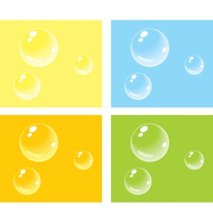 Bubbles on colored backgrounds vector