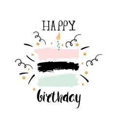 Creative happy birthday greeting background hand vector