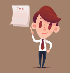 filing your taxes business man or manager holds vector image