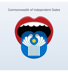 Commonwealth of independent states language vector
