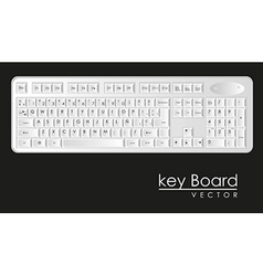 Computer keyboard to white with black letters vector