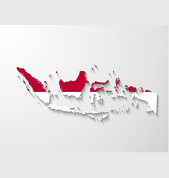 Indonesia country map with shadow effect presenta vector