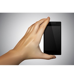 Hand are holding a smartphone vector