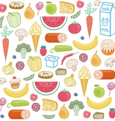 Seamless background of food vector